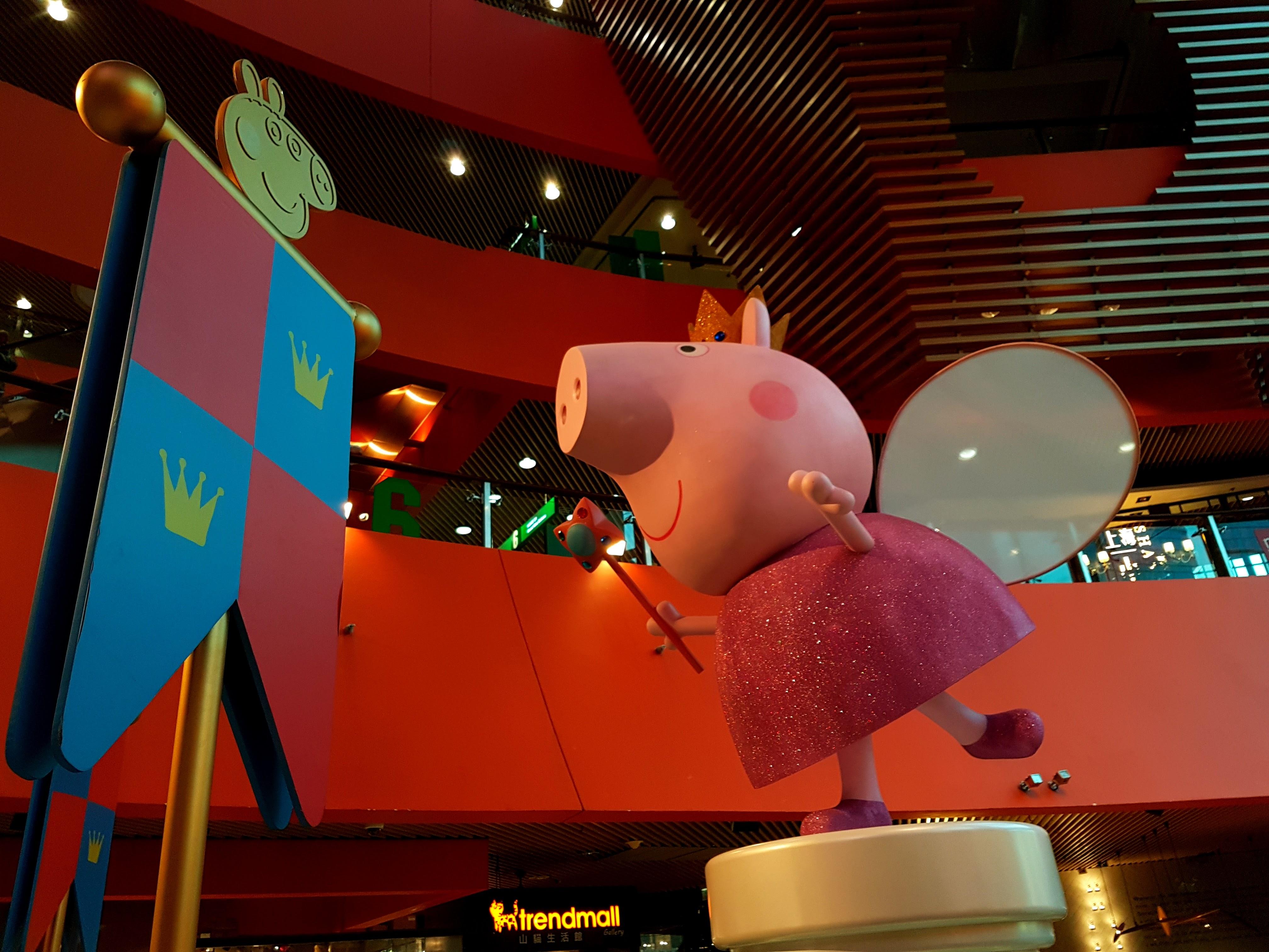 Huge Peppa Pig Installation at MegaBOX - Kowloon Bay